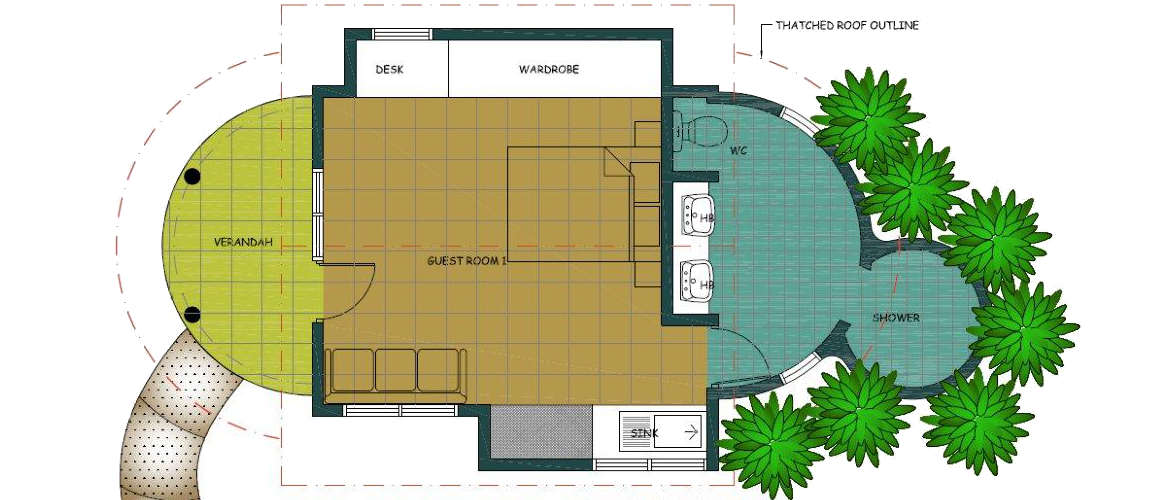 1-bedroom Fare floor plan